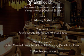 Дегустация блюд и виски бренда Glenfiddich в Alov Steakhouse & Jazz Bar отеля Fairmont Baku