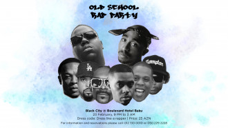 """Old School Rap Party"" Black City Cafédə"