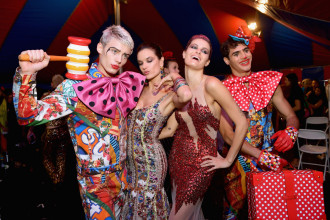 A circus: a new collection of Moschino Resort